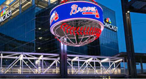 SunTrust Park and the Atlanta Braves Hit a Home Run with Baseball-shaped Curved LED Display!