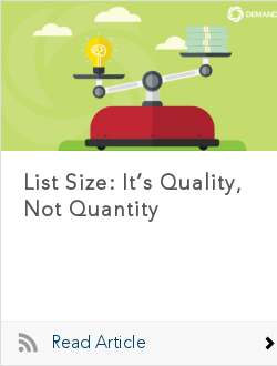 List Size: It's Quality, Not Quantity