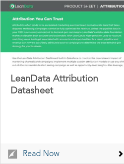 LeanData Attribution Datasheet