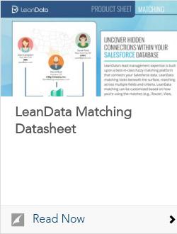 LeanData Matching Datasheet
