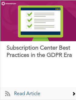 Subscription Center Best Practices in the GDPR Era