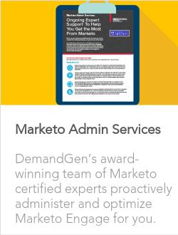 Marketo Admin Services