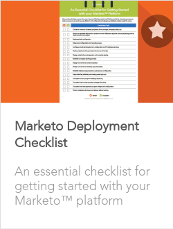 Marketo Deployment Checklist