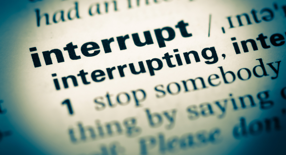 """Interrupt"" written in the dictionary"