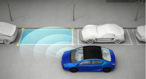Blue car parking using ADAS
