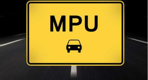 MPU on a traffic sign
