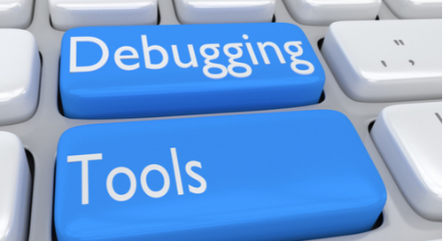 keyboard with Debugging and Tools written on keys