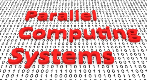 """Parallel Computing Systems"" on a binary background"
