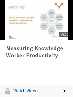 Measuring Knowledge Worker Productivity