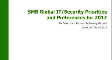 SMB's Global IT Security Priorities and Preferences