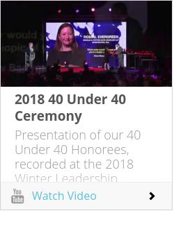 2018 40 Under 40 Ceremony