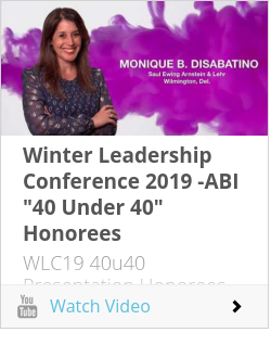 "Winter Leadership Conference 2019 -ABI ""40 Under 40"" Honorees"