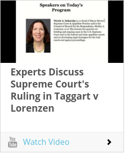 Experts Discuss Supreme Court's Ruling in Taggart v Lorenzen