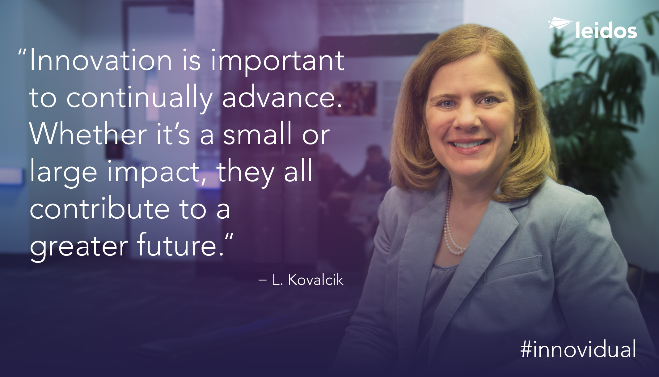 Luanne Kovalcik is the program manager for the Time Based Flow Management (TBFM) program at Leidos.