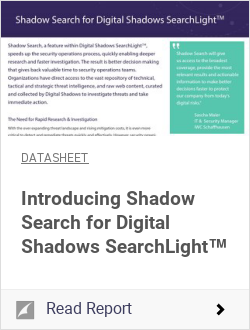 Shadow Search for Digital Shadows SearchLight™