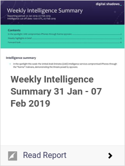 Weekly Intelligence Summary 31 Jan - 07 Feb 2019