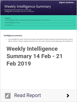 Weekly Intelligence Summary 14 Feb - 21 Feb 2019