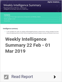 Weekly Intelligence Summary 22 Feb - 01 Mar 2019