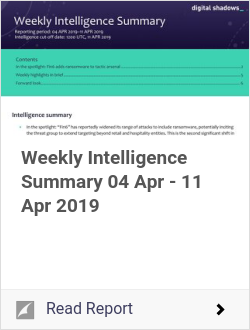 Weekly Intelligence Summary 04 Apr - 11 Apr 2019