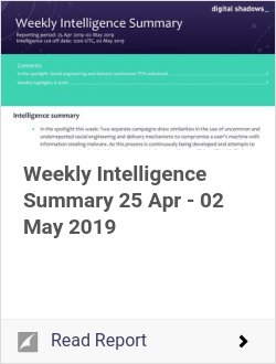 Weekly Intelligence Summary 25 Apr - 02 May 2019