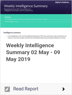Weekly Intelligence Summary 02 May - 09 May 2019