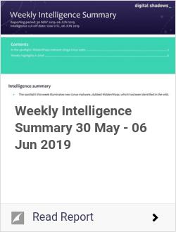 Weekly Intelligence Summary 30 May - 06 Jun 2019