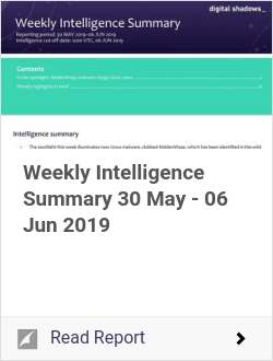 Weekly Intelligence Summary 30 May - 06 Jun 2019