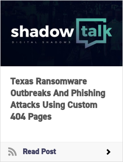 Texas Ransomware Outbreaks And Phishing Attacks Using Custom 404 Pages