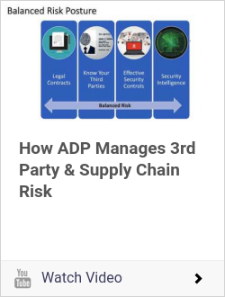How ADP Manages 3rd Party & Supply Chain Risk