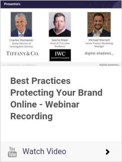Best Practices Protecting Your Brand Online - Webinar Recording