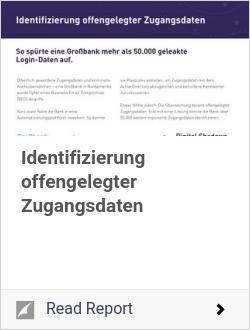 Identifizierung offengelegter Zugangsdaten