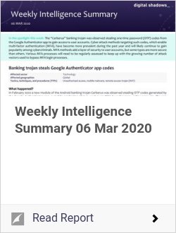 Weekly Intelligence Summary 06 Mar 2020