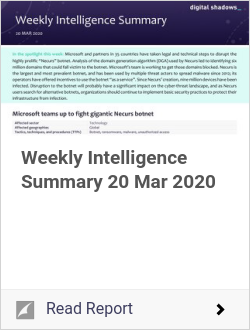 Weekly Intelligence Summary 20 Mar 2020