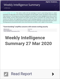 Weekly Intelligence Summary 27 Mar 2020