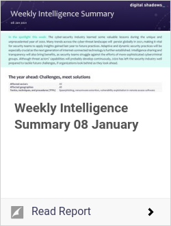 Weekly Intelligence Summary 08 January