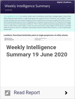 Weekly Intelligence Summary 19 June 2020