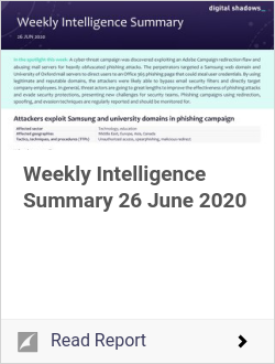 Weekly Intelligence Summary 26 June 2020
