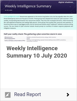 Weekly Intelligence Summary 10 July 2020