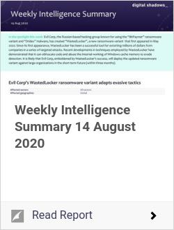 Weekly Intelligence Summary 14 August 2020