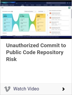 Unauthorized Commit to Public Code Repository Risk