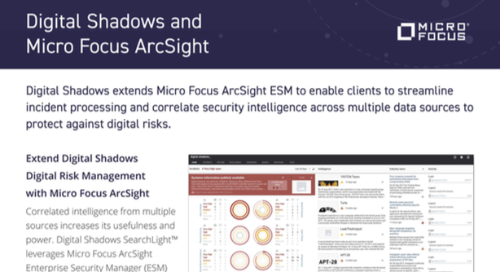 SIEM: ArcSight MicroFocus Integration Datasheet