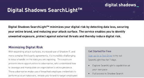 Digital Shadows SearchLight™