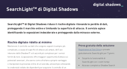 SearchLightTM di Digital Shadows