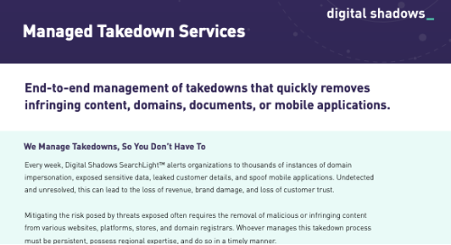 Digital Shadows Managed Takedown Service