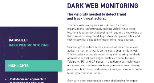 Dark Web Monitoring Overview