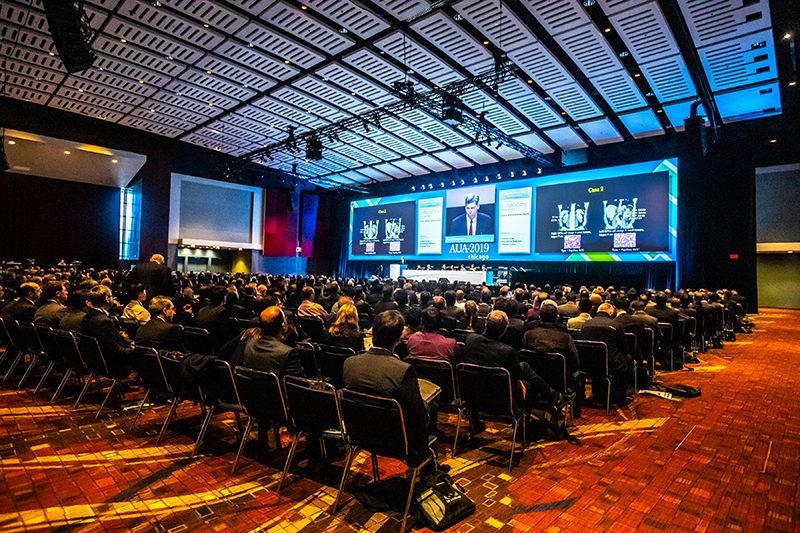The AUA's Annual meeting is typically intensely educational. with live demonstrations, surgical videos, and research findings. all reliant on expert AV Technology