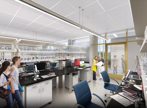 Interior laboratory classroom