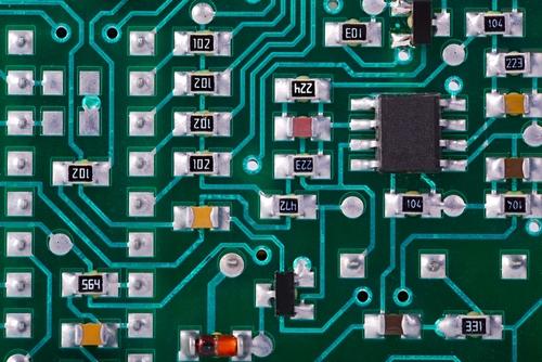 primer plano de una PCB