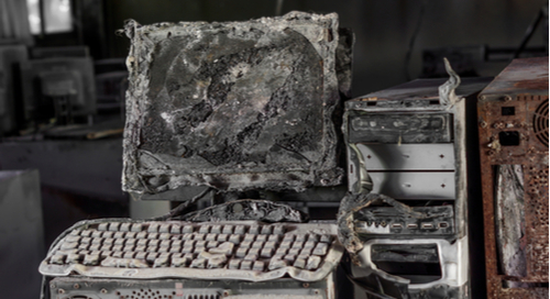 PC brûlé