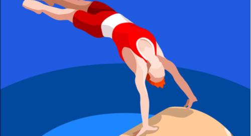 Saut d'un gymnaste